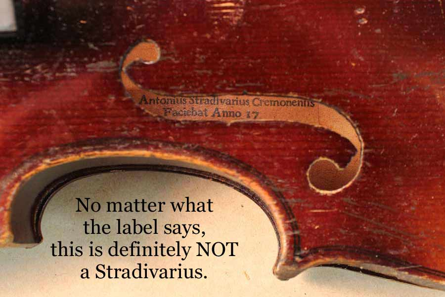 The gallery for --> Stradivarius Violin Label Look Like